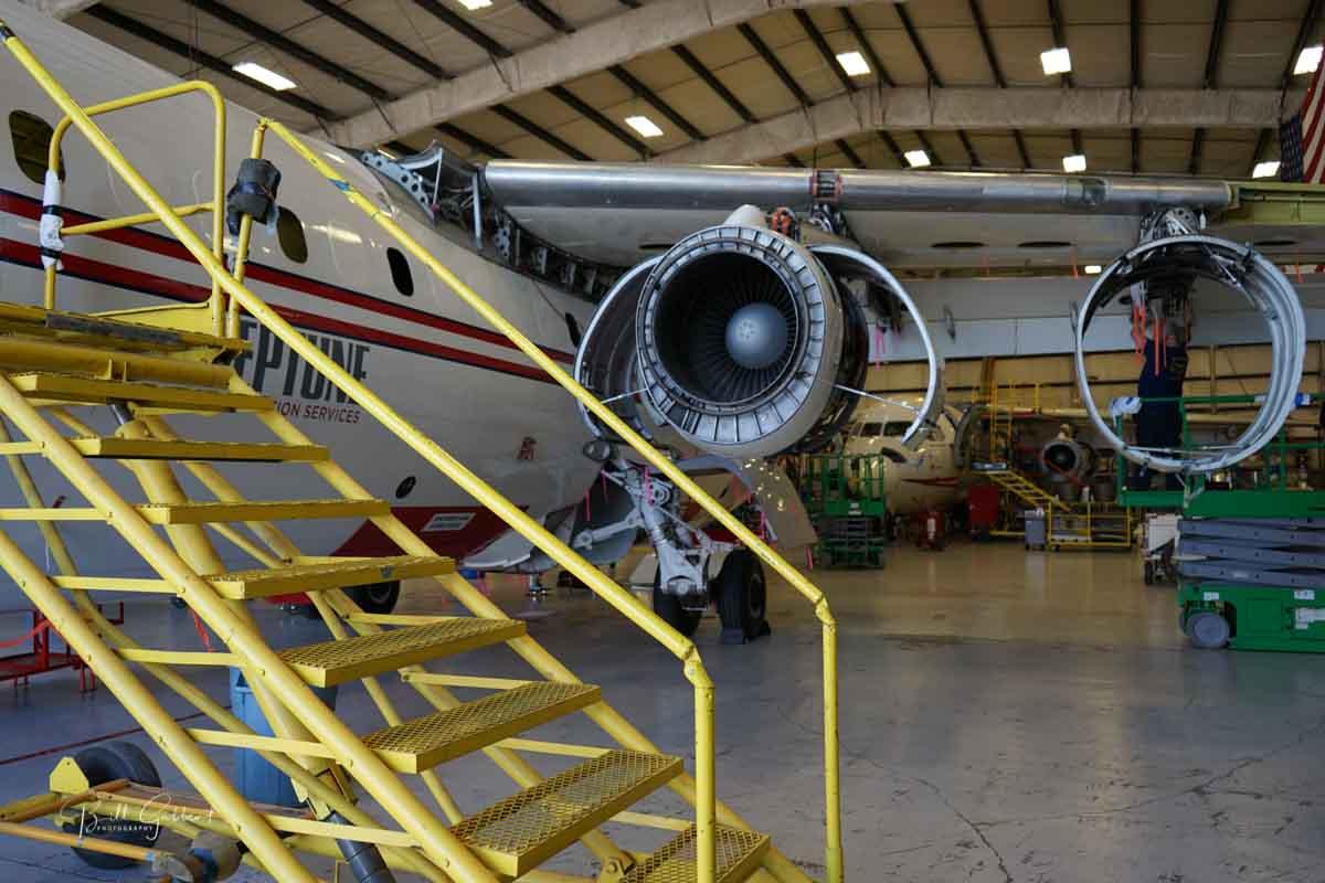 Neptune Aviation air tanker wildfire
