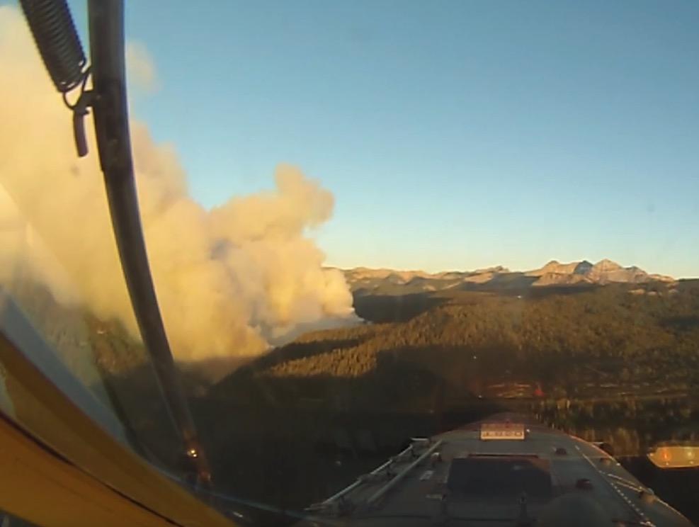 air tanker 850 burro mountain fire colorado wildfire