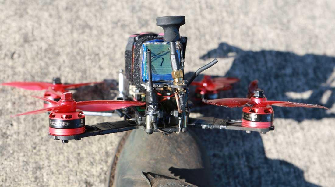 drone starts wildfire Oregon