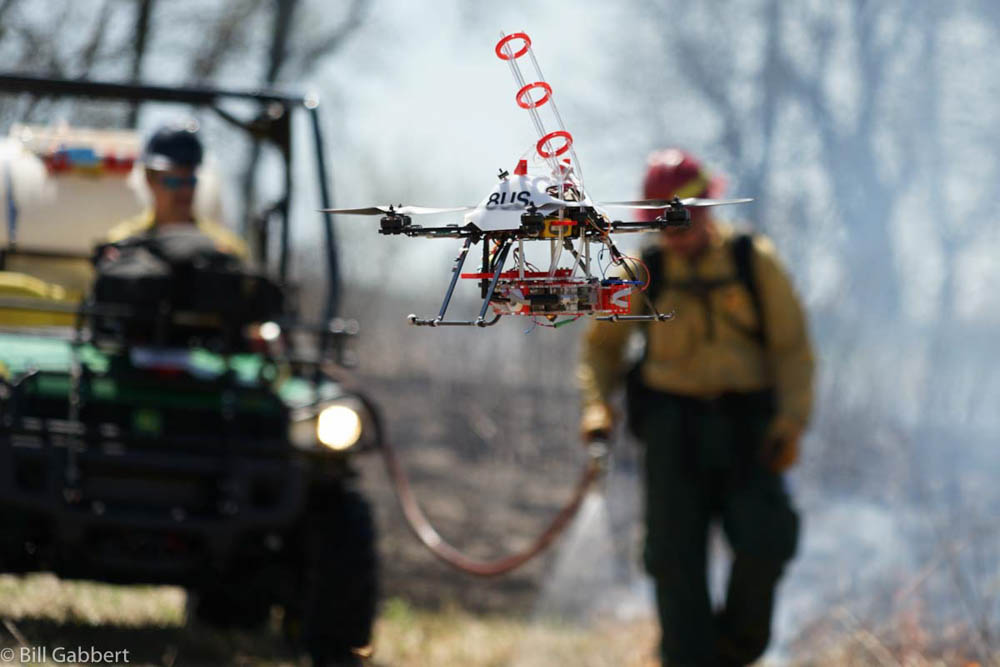 drone ignite prescribed fire