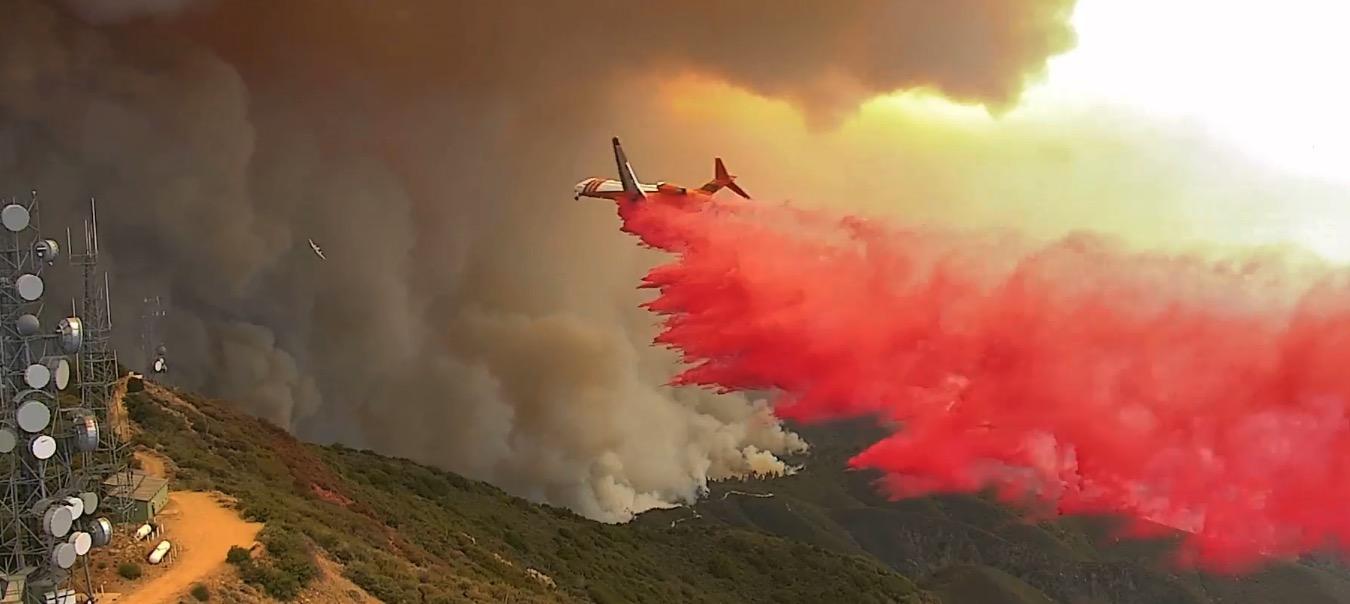 MD-87 air tanker Santiago Peak Holy Fire