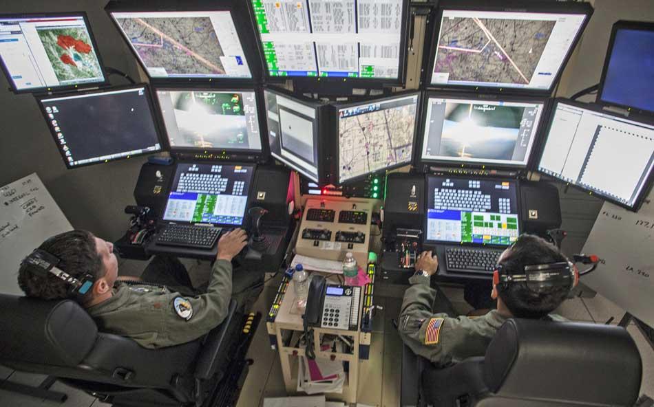 MQ-9 reaper drone maps wildfires