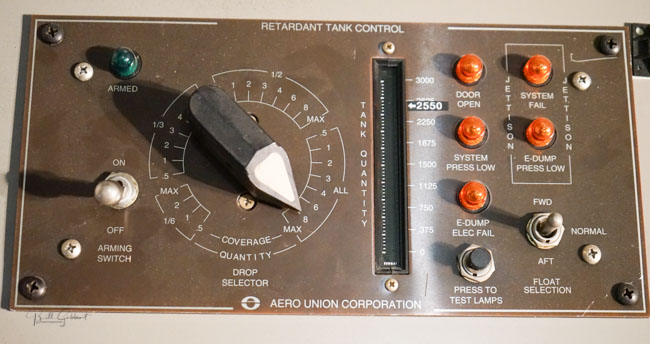 retardant tank control panel