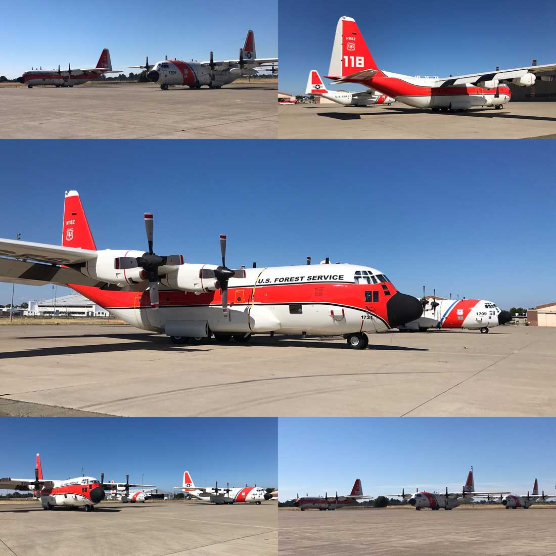 HC-130H Coast Guard US Forest Service