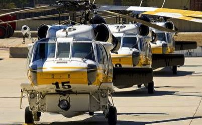 Los Angeles County Firehawk helicopters