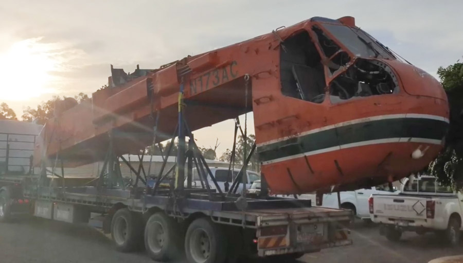 Air-Crane extracted from lake crash
