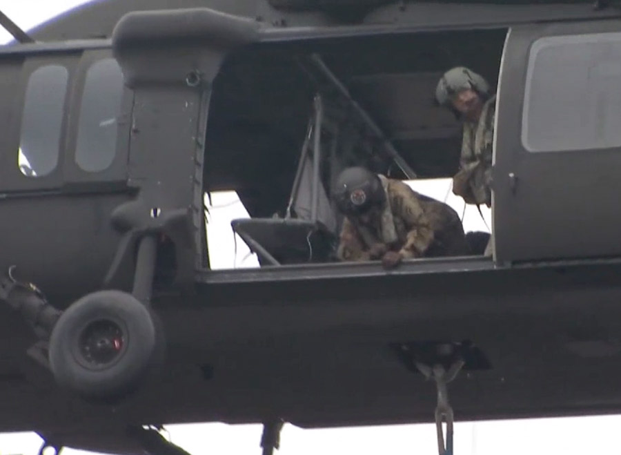Connecticut National Guard helicopter crews firefighting