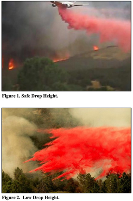 retardant drop height