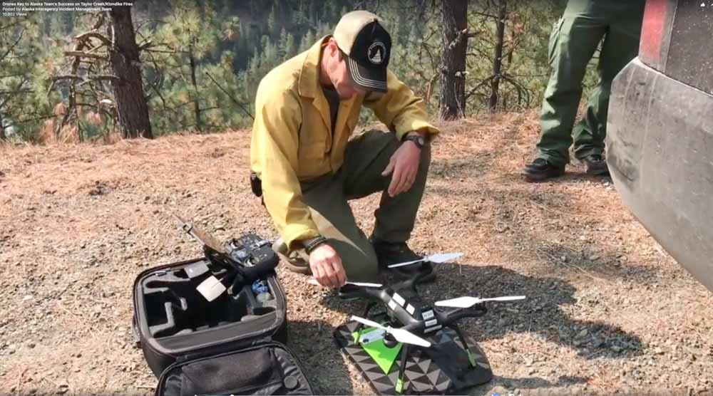 drones Oregon mapping aerial ignition wildfires