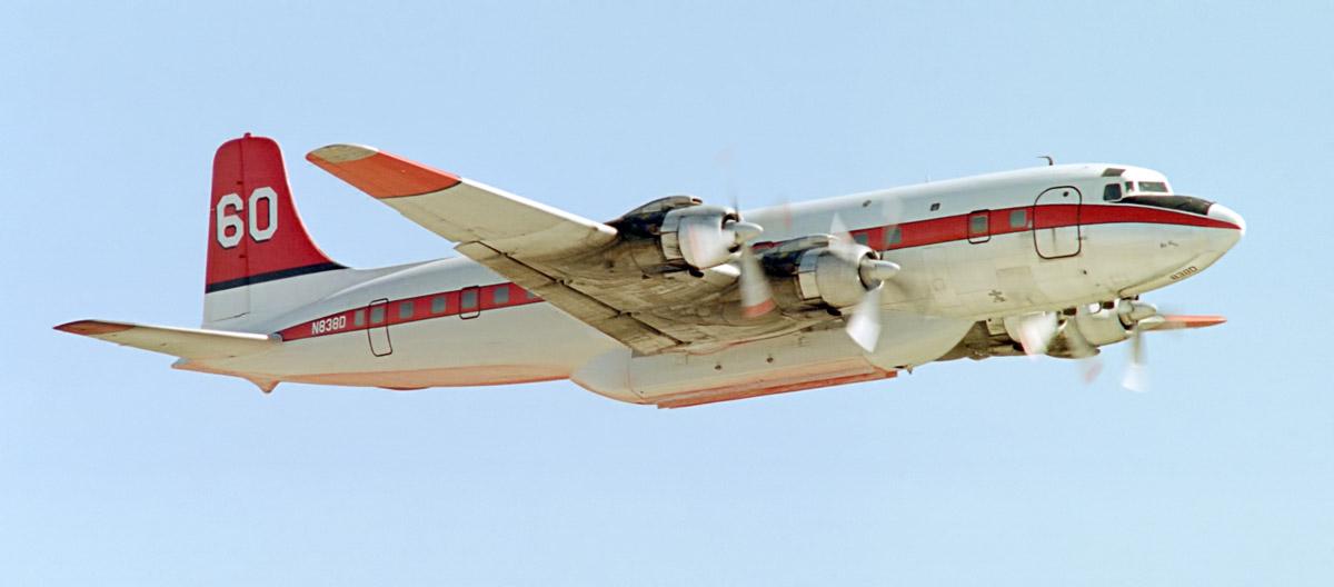 DC-7, N838D air tanker