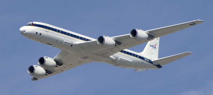 NASA DC-8 study smoke plume fires