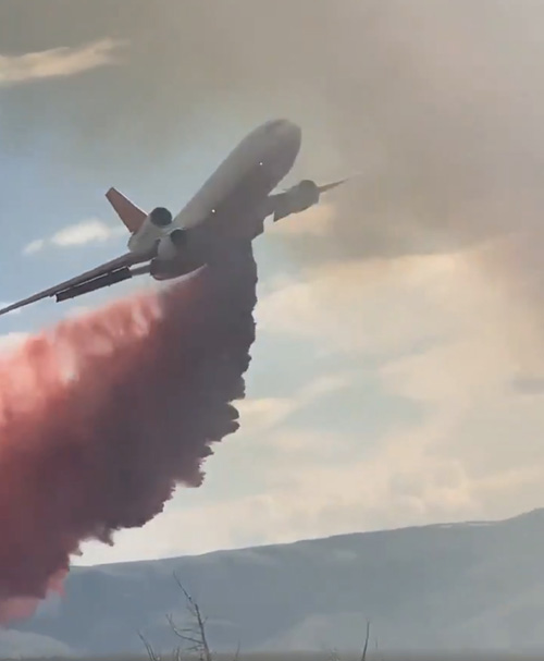 DC-10 air tanker drop Idaho