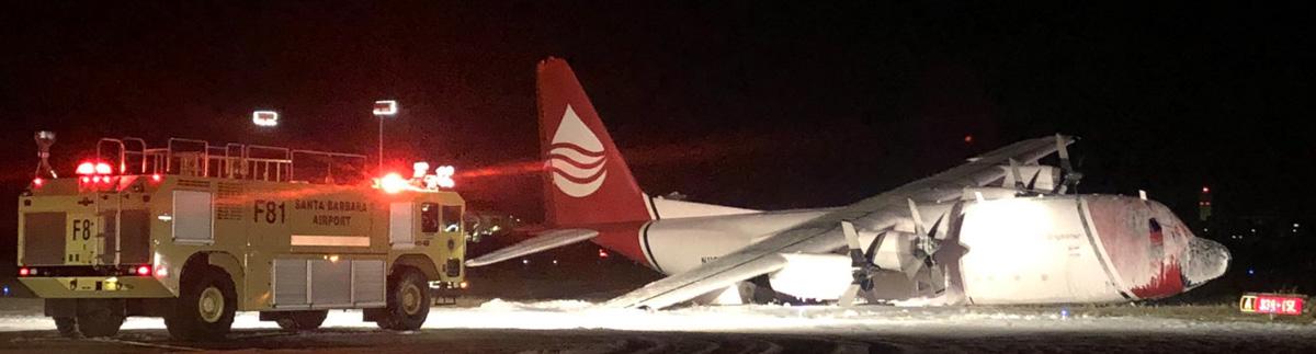 C-130 crash landing Santa Barbara Airport