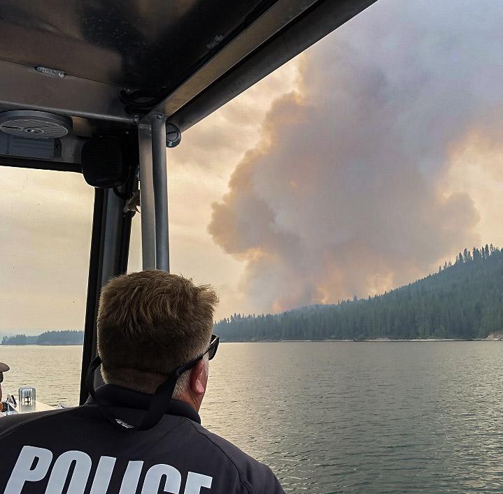 Williams Flats Fire drone
