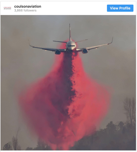 coulson 737 air tanker dropping