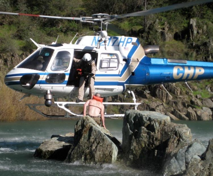 California Highway Patrol helicopter