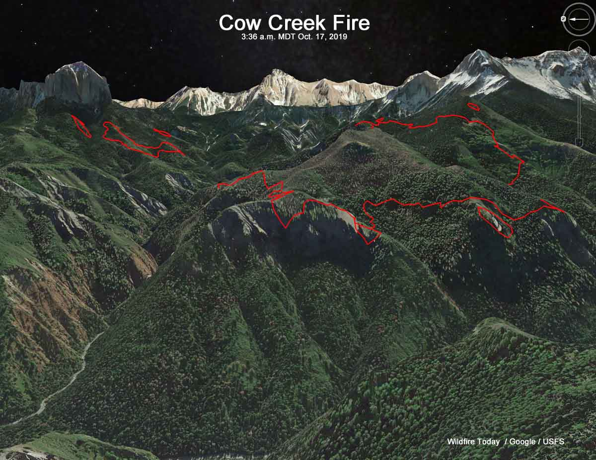 Cow Creek Fire Ridgway Colorado map