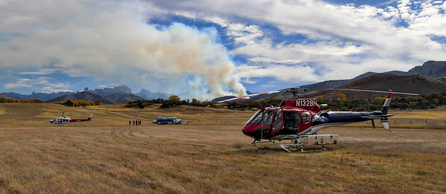 Cow Creek Fire helicopters