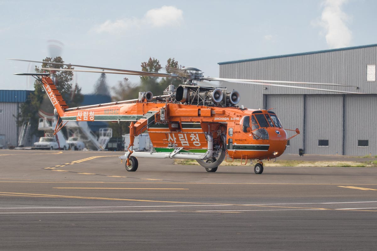 Korea Forest Service Air-Crane S-64