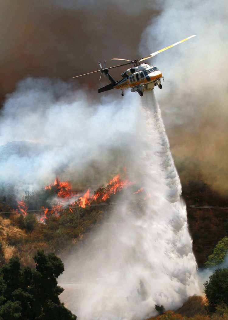 LA County Fire Blackhawk helicopter S-70