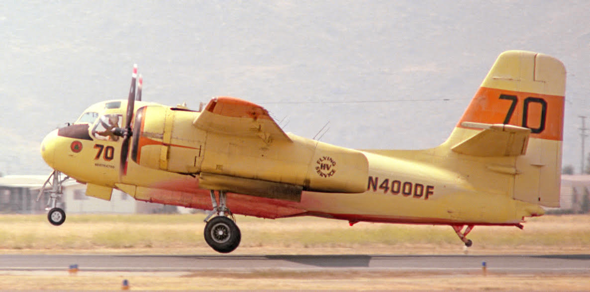 Air tanker 70 Hemet-Ryan Airport 1980