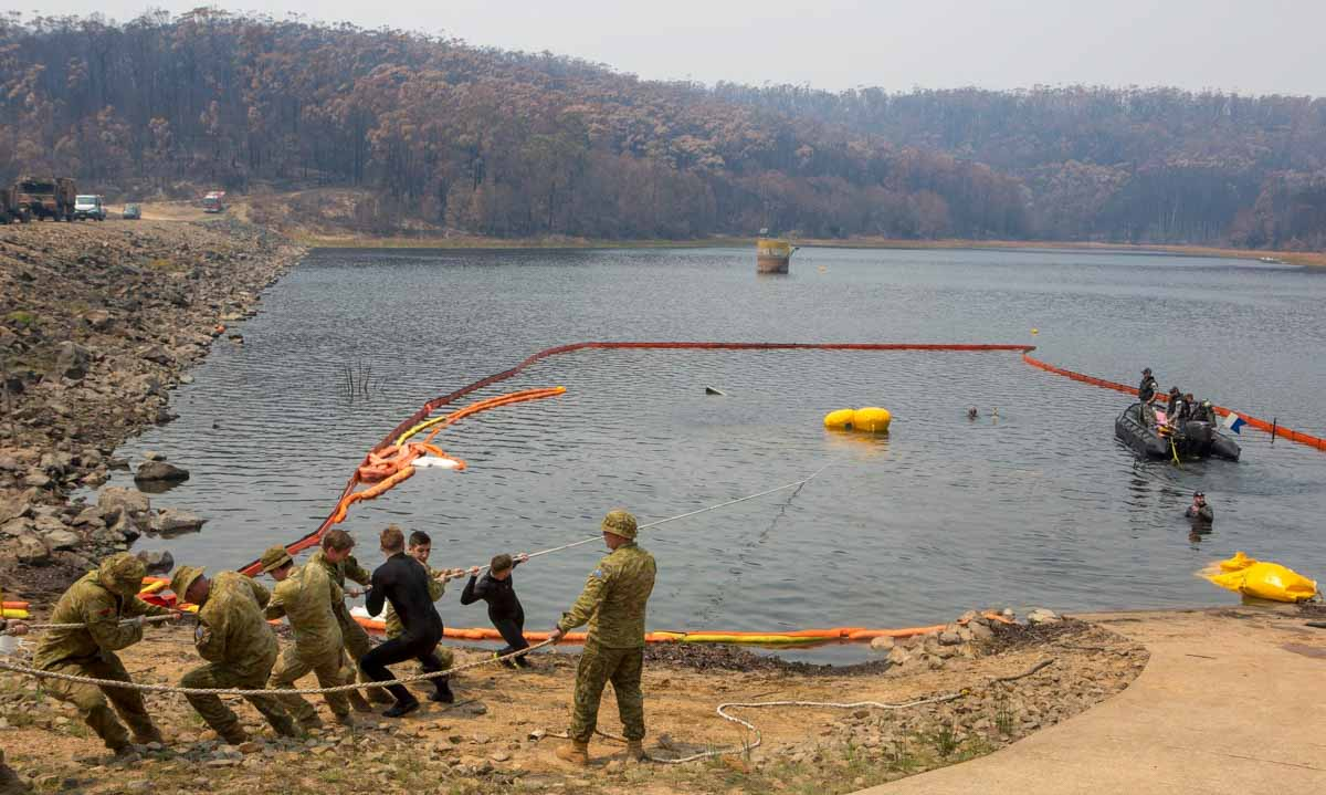 helicopter recovery fire Ben Boyd Reservoir Eden New South Wales