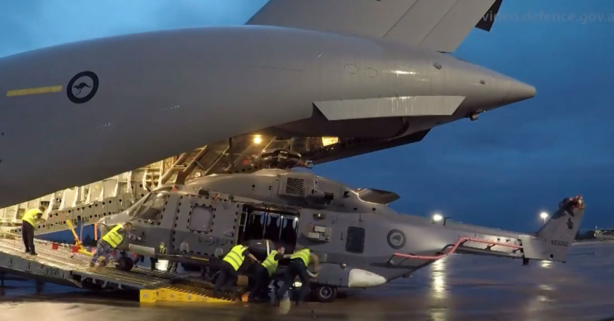C-17a transports helicopter