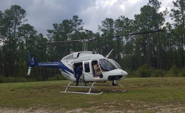 march 30, 2015 helicopter crash Mississippi aerial ignitions