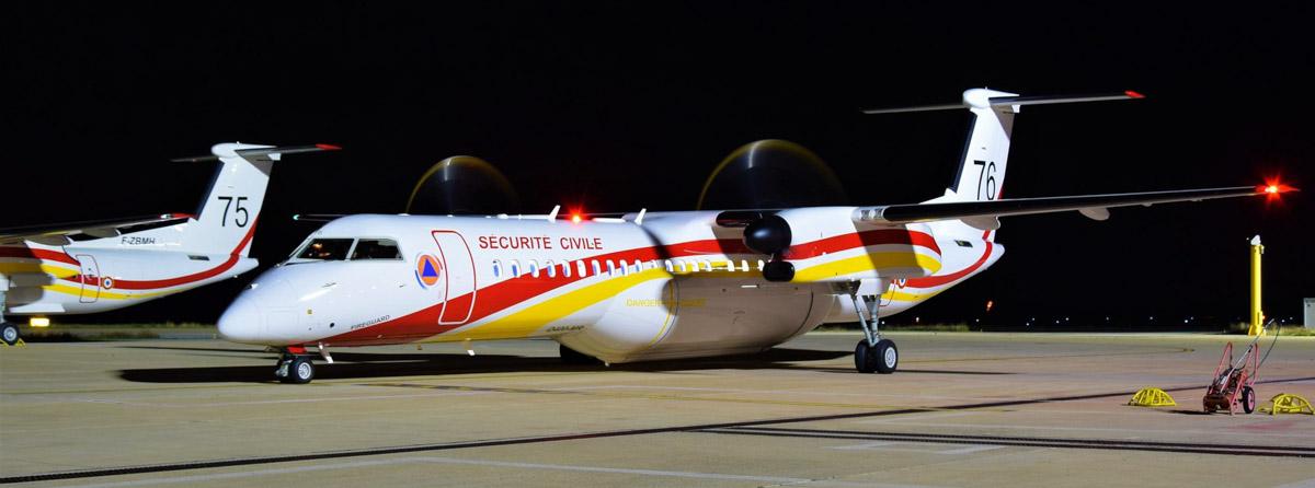 Q400 MR air tanker Sécurité Civile