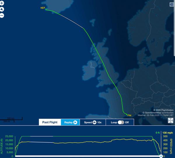 Tanker 76's transcontinental flight
