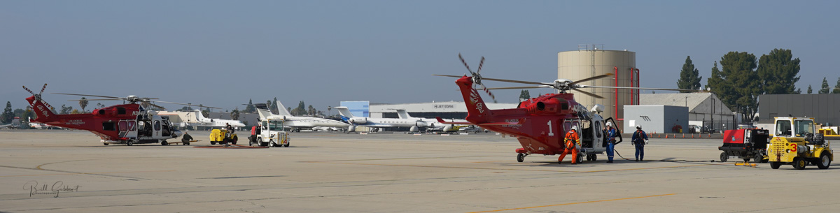 Los Angeles Fire Department helicopters