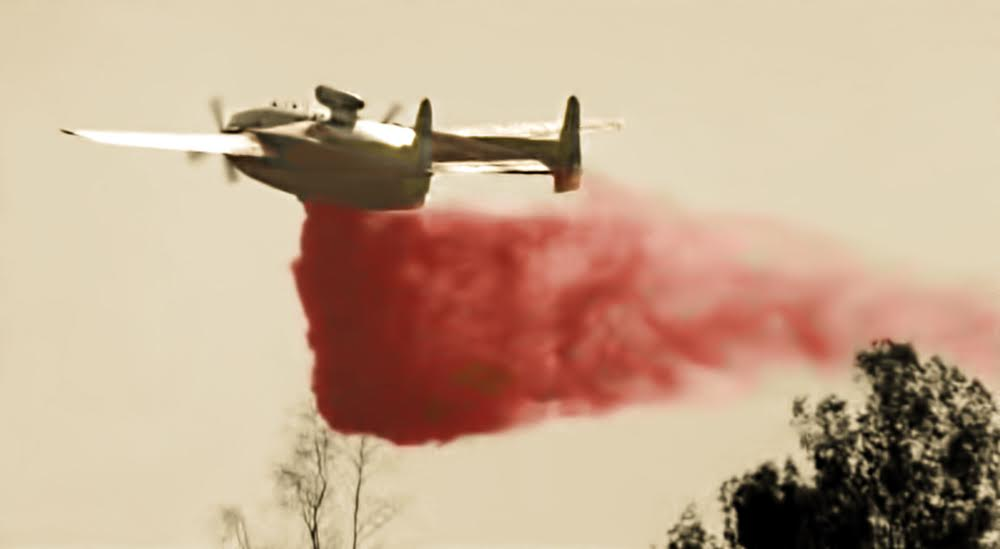 Ontario Airport C-119 jettisoned fire retardant air Tanker 135