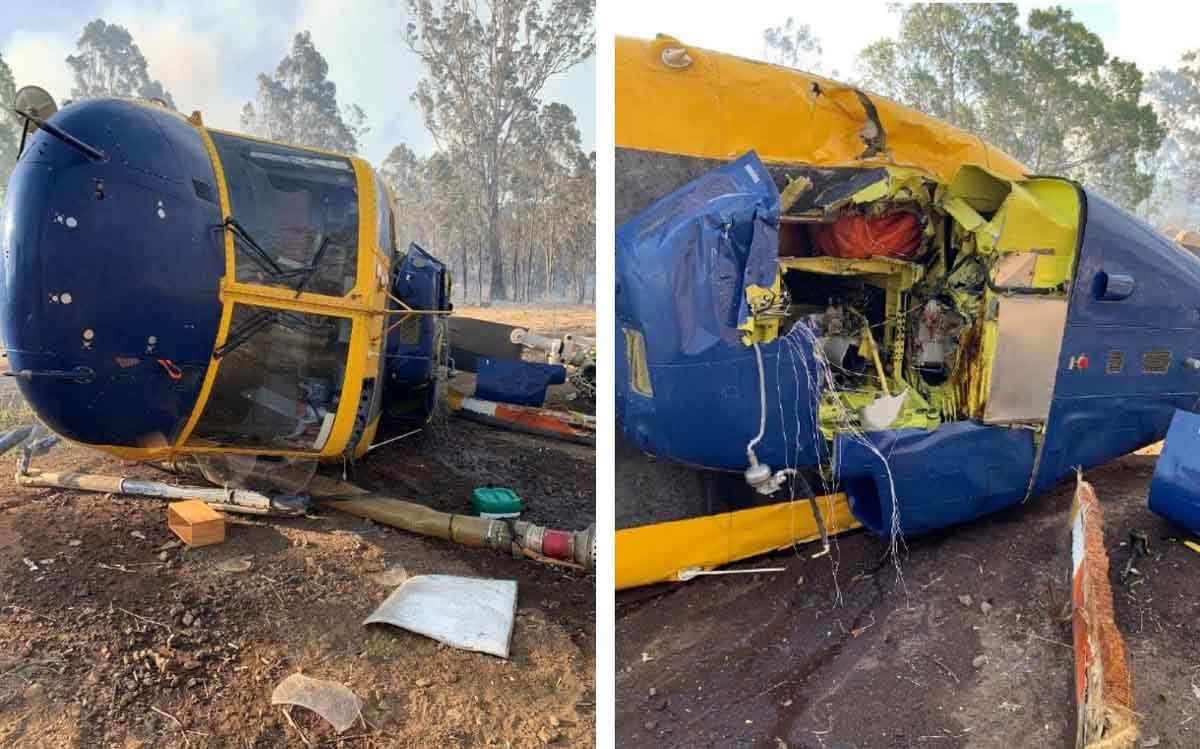 B214 helicopter crash Queensland November 13 2019