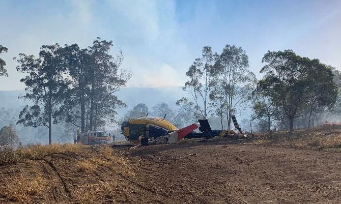 B214 helicopter crash Queensland November 13 2019