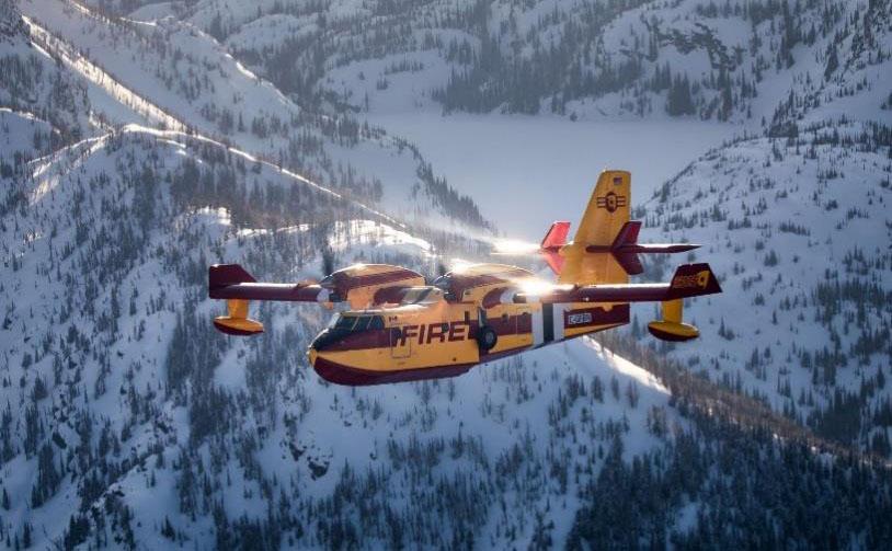"""first Viking CL-415EAF """"Enhanced Aerial Firefighter"""" was delivered"""