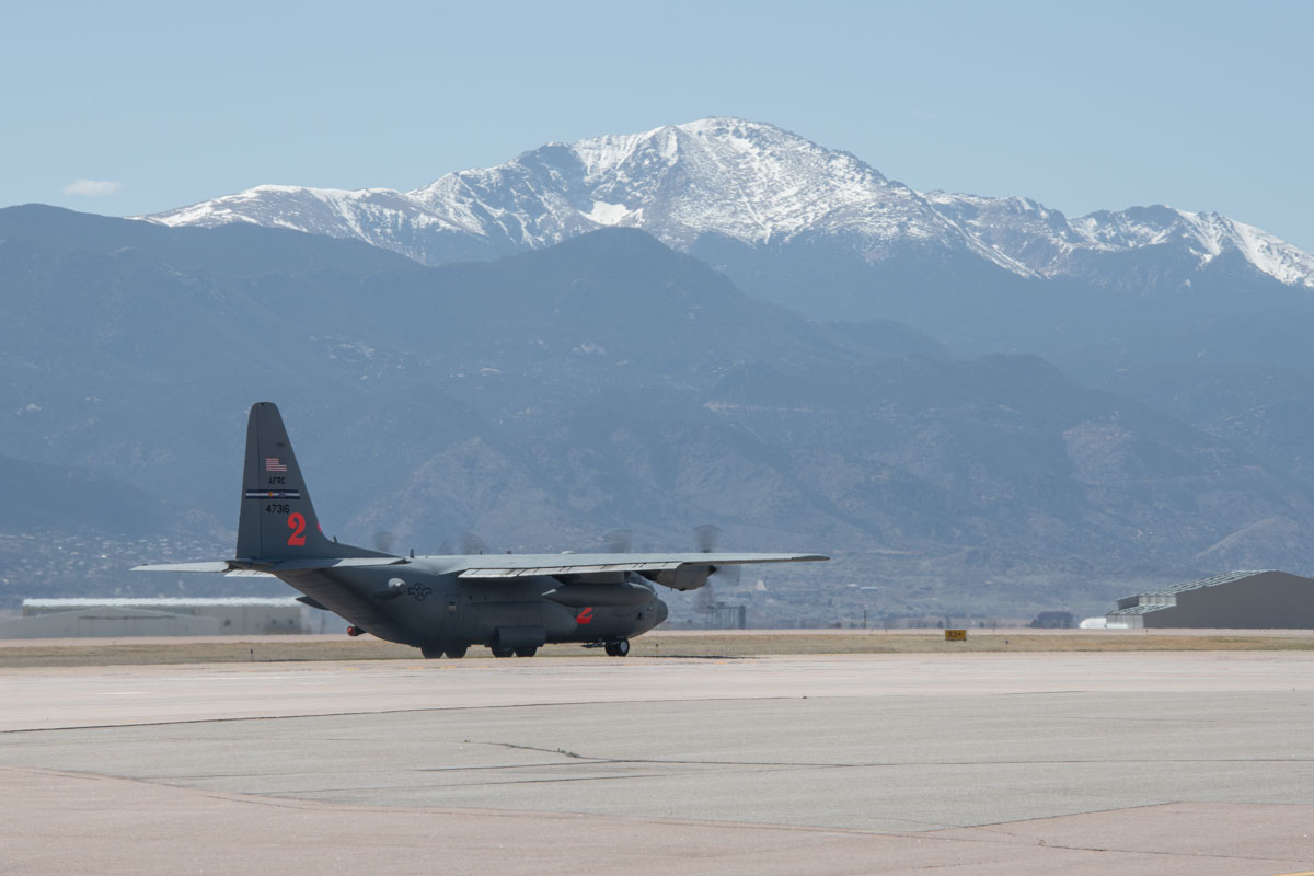 MAFFS training Peterson AFB Colorado fire aerial firefighting