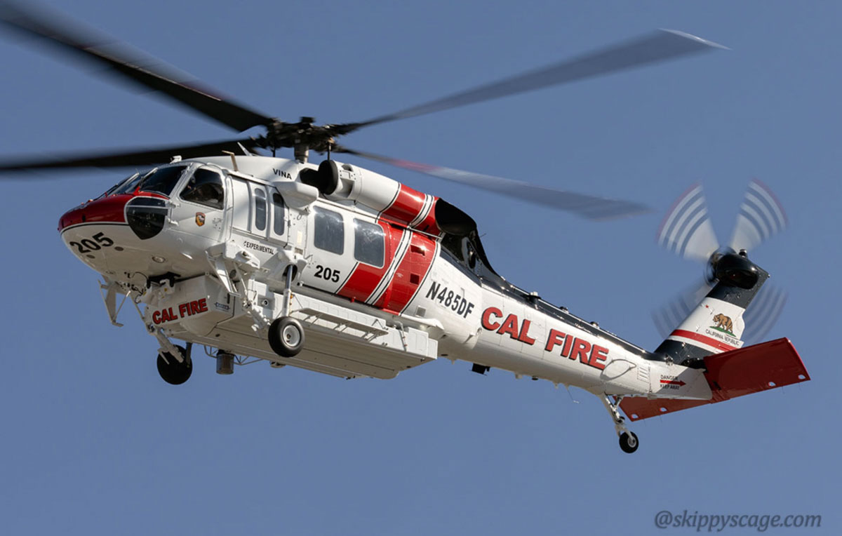 CAL FIRE's new i70 Firehawk helicopter