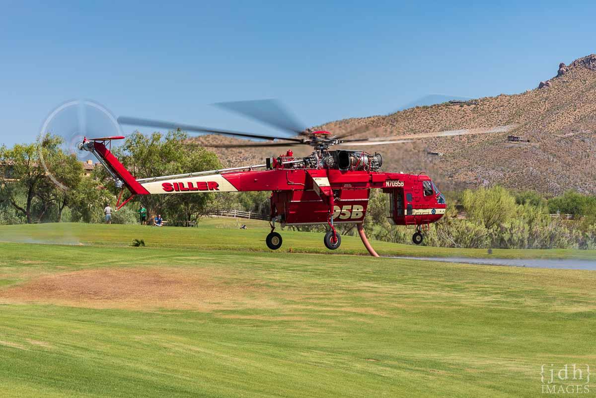 N7095B, a Sikorsky CH-54A Skycrane fire wildfire