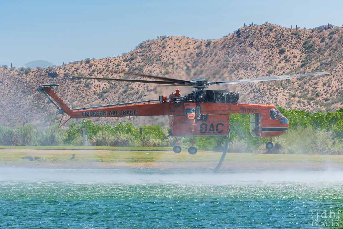 "Skycrane ""Isabelle"" N178AC, a Sikorsky S-64F fire wildfire"