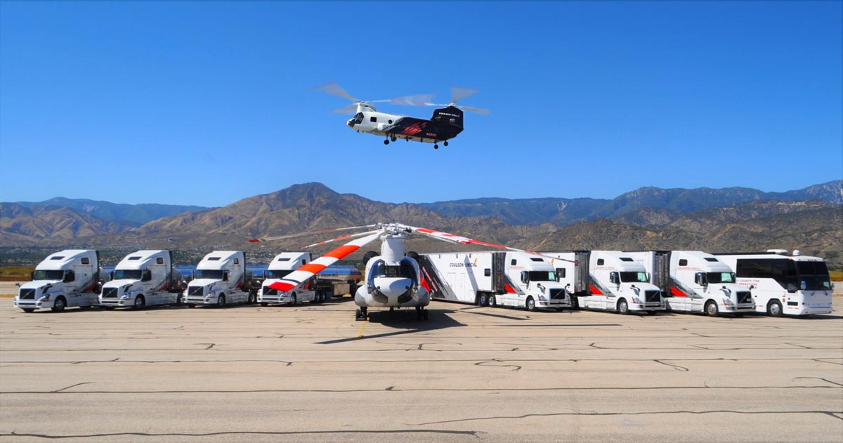 Coulson Ground Fleet vehicles helicopters CH-47 fire