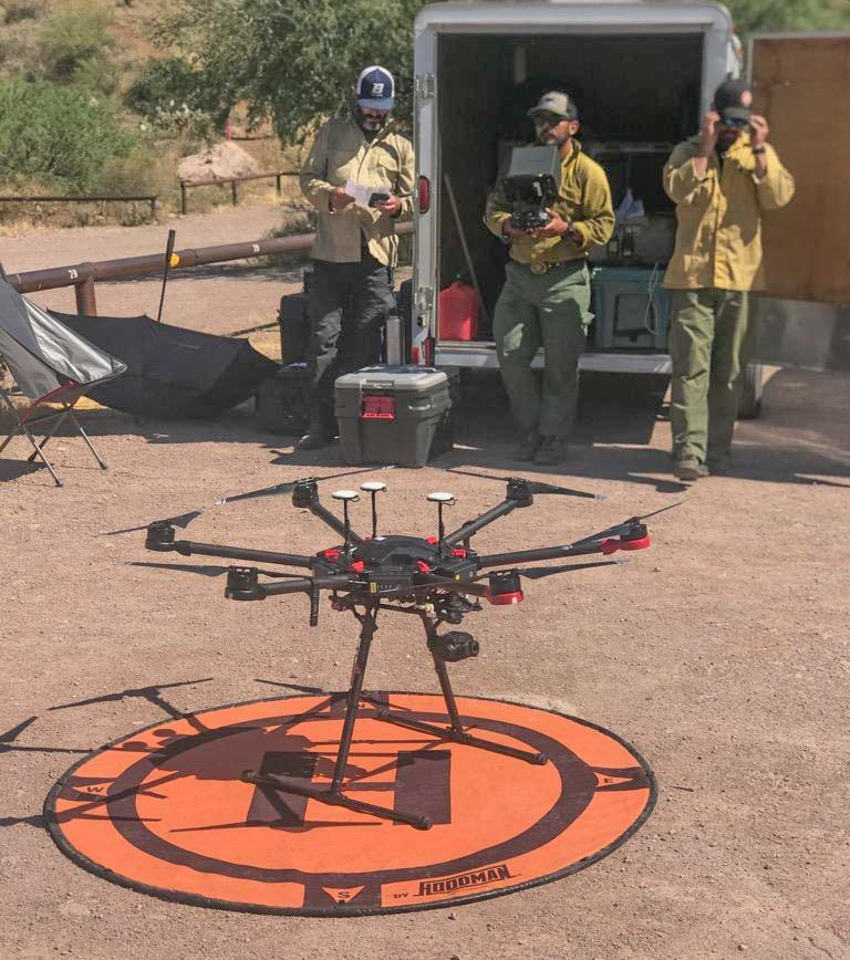 Unmanned Aerial System (UAS) module drone Sawtooth Fire