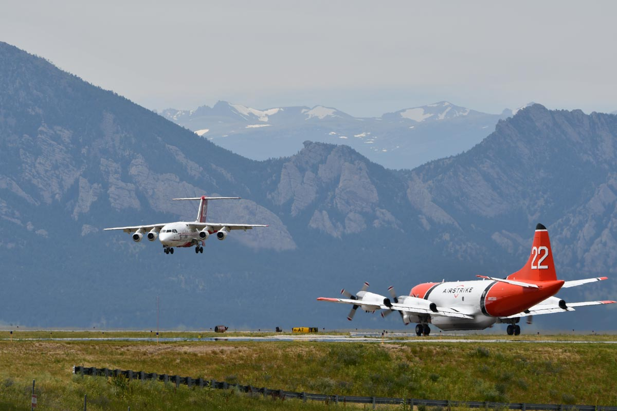 Tankers 22 (a P-3, N922AU) and 02 (a BAe-146, NJ474NA)