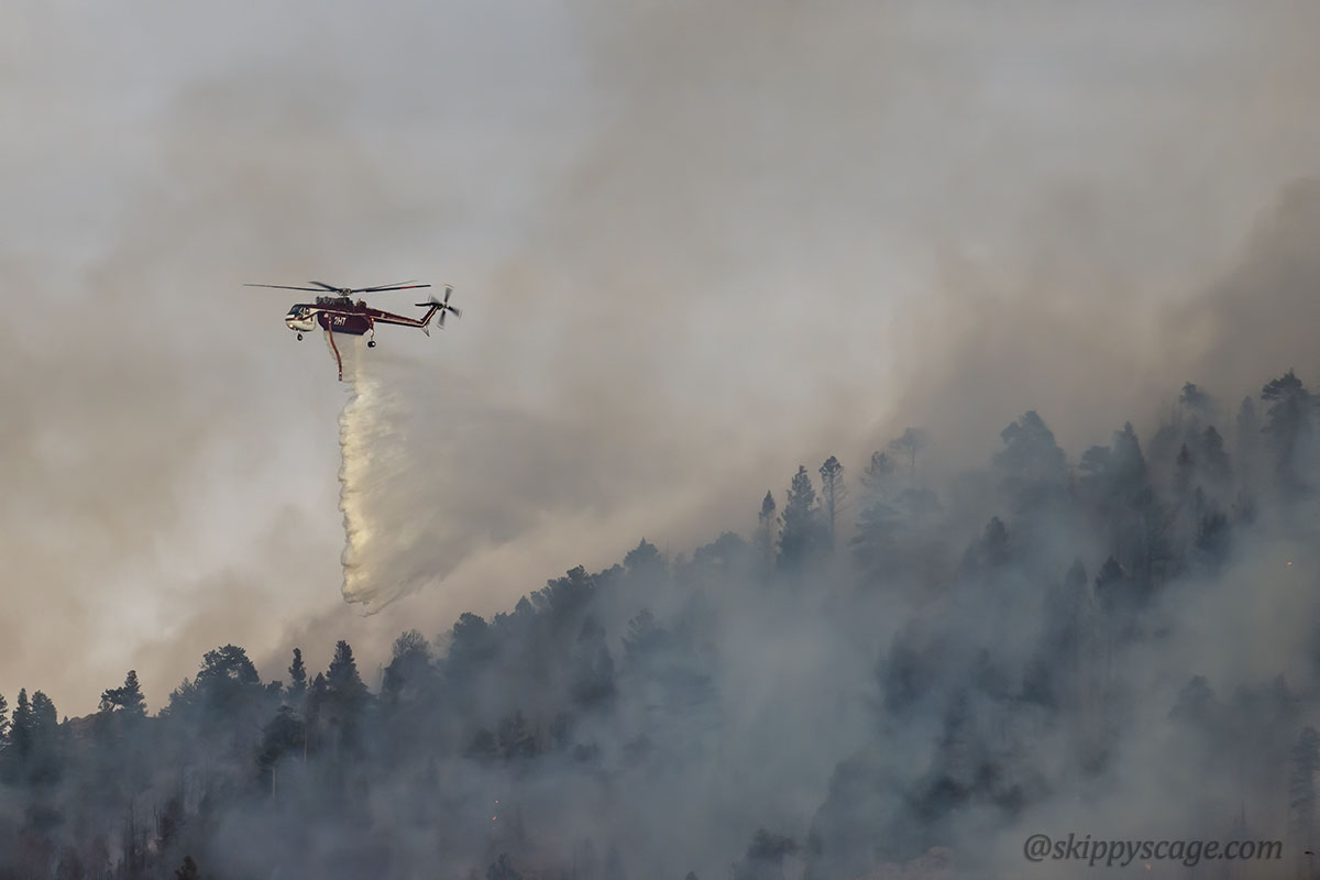 Helicopter 2HT (N722HT) fire