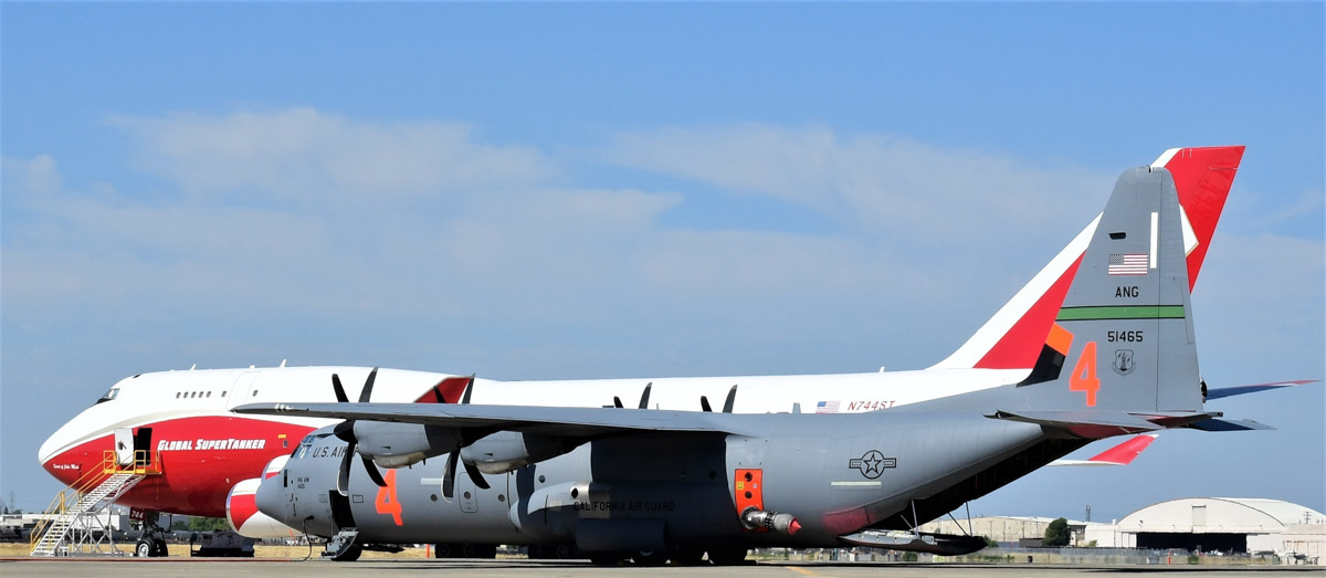 747 supertanker c-130 national guard fire wildfire MAFFS