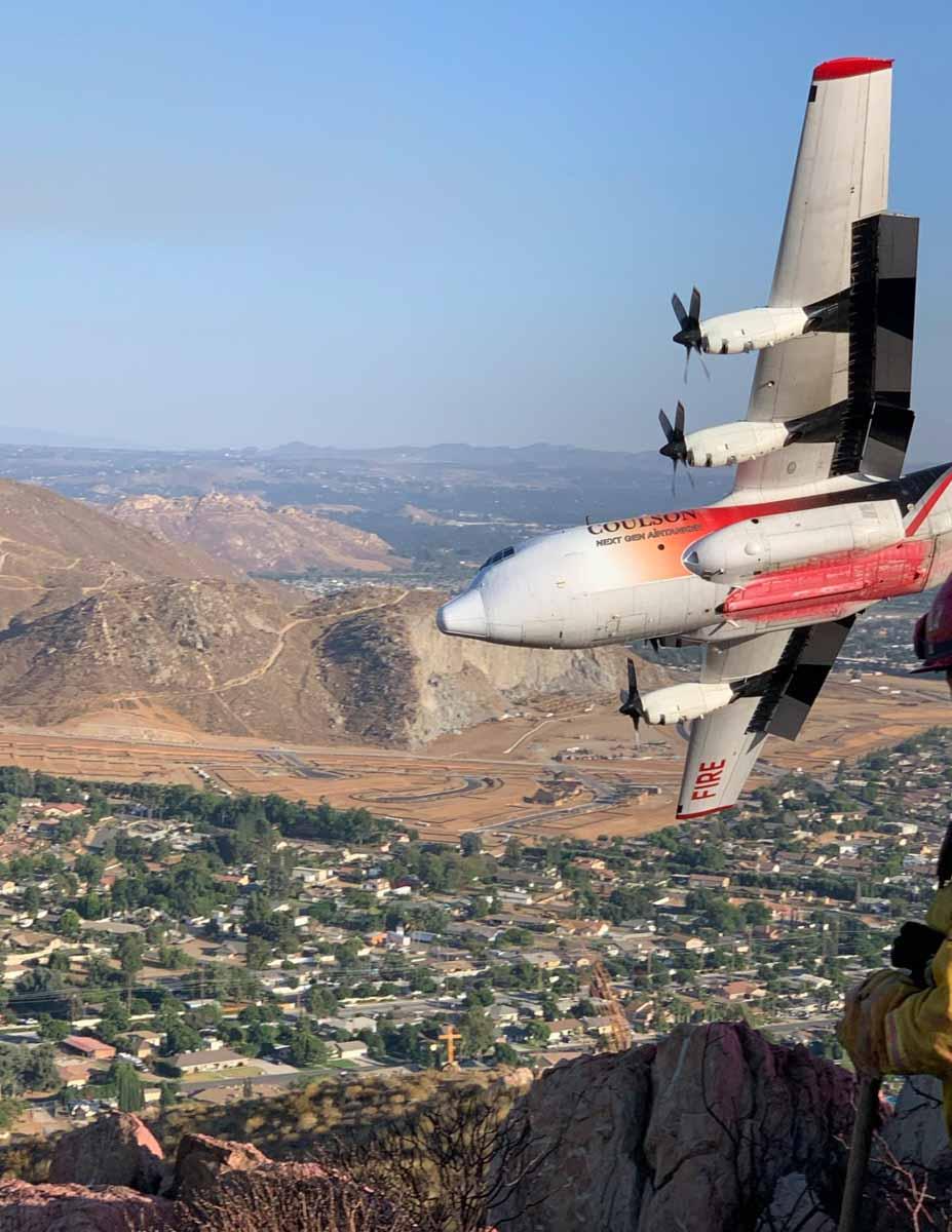 Air Tanker 131 C-130Q (N130FF) fire wildfire