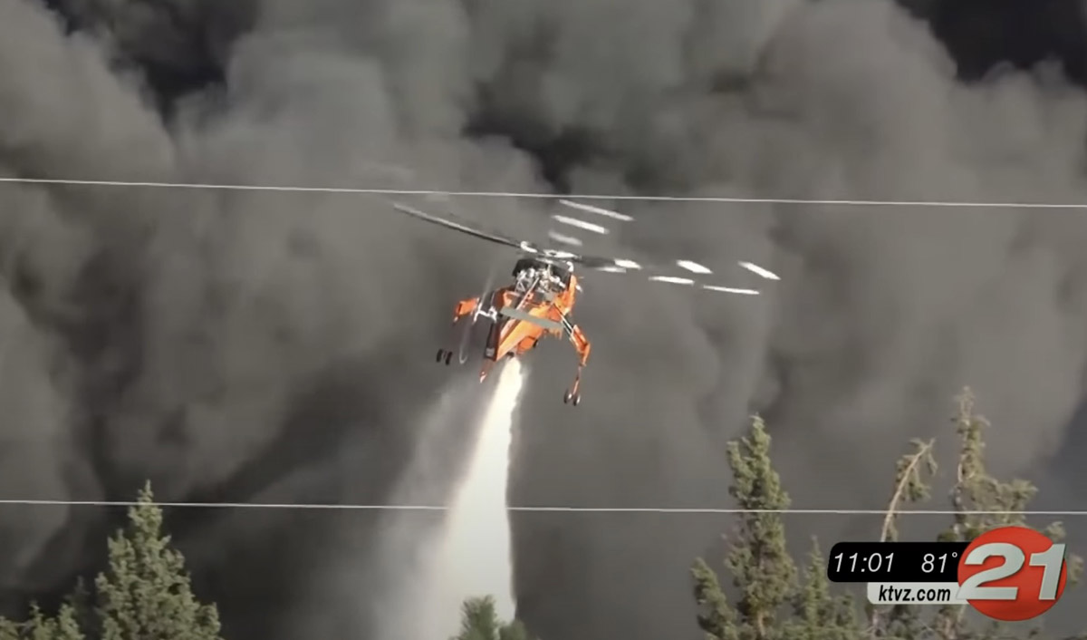 Helicopter 3AC drops on the Juniper Fire