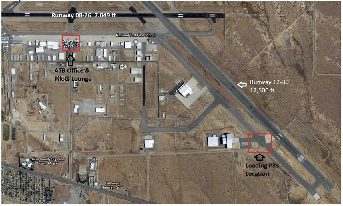 Mojave airport reload base