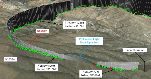 NTSB graphic mid-air crash air tanker