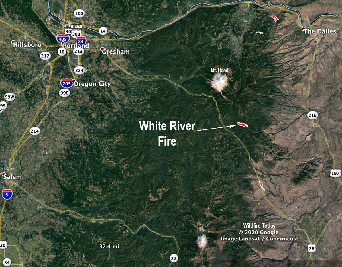 White River Fire August 24, 2020 Oregon helicopter accident