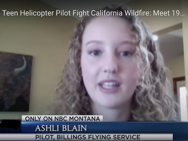 Ashli Blain, firefighting helicopter pilot